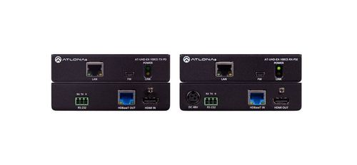 Atlona UHD-EX-100CE-TX-PD with UHD-EX-100CE-RX-PSE (100CER-PoE-EXT)