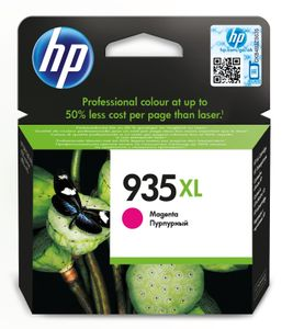 HP 935XL original ink cartridge magenta high capacity 825 pages 1-pack Blister multi tag (C2P25AE#301)