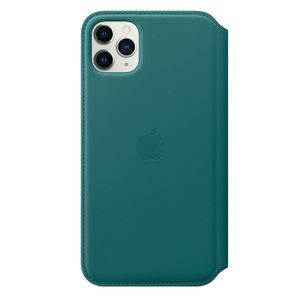 APPLE iPhone 11 Pro Max Leather Folio Peacock (MY1Q2ZM/A)