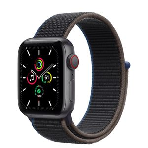 APPLE Watch SE GPS + Cellular, 40mm Space Gray Aluminium Case with Charcoal Sport Loop (MYEL2KS/A)