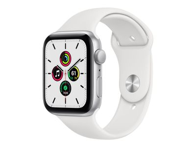 APPLE WATCH SE GPS 44MM SILVER ALUMCASE WITH WHITE S/P ACCS (MYDQ2KS/A)