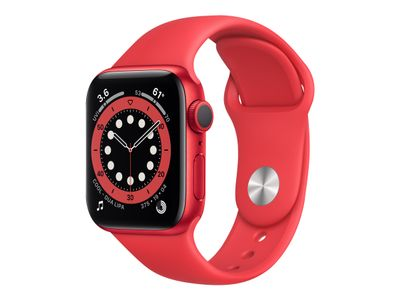 APPLE Watch Series 6 44mm PRODUCT(RED) Watch Series 6 GPS, 44mm PRODUCT(RED) Aluminium Case med PRODUCT(RED) Sport Band (M00M3DH/A)
