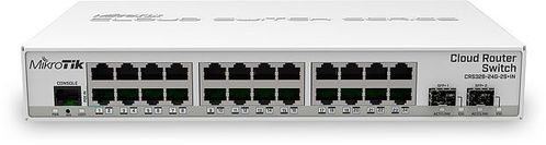 MIKROTIK Cloud Router Switch CRS326-24G-2S+IN,  24x Gigabit, 2x SFP+ (CRS326-24G-2S+IN)