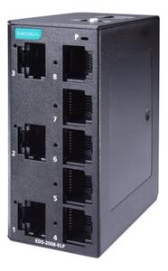 MOXA 8-port entry-level unmanaged Ethernet switches (EDS-2008-ELP)