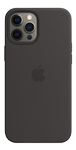 APPLE iPhone 12 Pro Max Silicone Case with MagSafe - Black (MHLG3ZM/A)