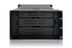 """ICY DOCK 3x 3.5"""" SATA in 2x 5.25"""" bay backplane cage 80mm fan metal"""