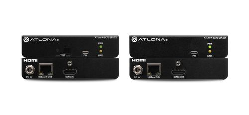 Atlona Avance 4K/UHD HDMI Transmitter and Receiver Kit with RS-232 and IR pass-through (AT-AVA-EX70-2PS-KIT)