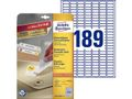 AVERY Removable labels 25.4x10mm