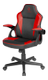 DELTACO DC120R Junior Gaming Chair, PU-leather,  Black/Red