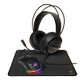 DELTACO 3-in-1 Lightweight Gaming kit, Headset, Mouse, Mousepad
