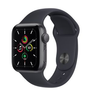APPLE APPLE WATCH SE GPS 40MM SPACE GREY ALUMINIUM CASE WITH MIDNIGH CONS (MKQ13KS/A)