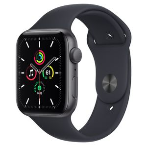 APPLE APPLE WATCH SE GPS 44MM SPACE GREY ALUMINIUM CASE WITH MIDNIGH CONS (MKQ63KS/A)