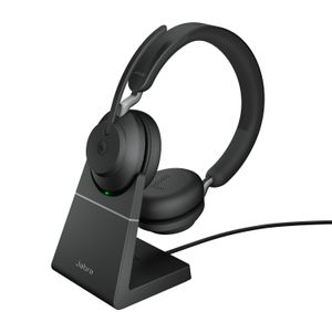 JABRA Evolve2 65 - USB-A MS Teams Stereo with Charging Stand - Black (26599-999-989)