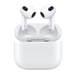 APPLE AirPods 3.gen Adaptive EQ, spatial audio, MagSafe, trådløst lading, IPX4 (MME73ZM/A)