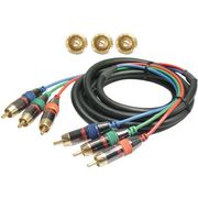 Deltaco Component video kabel, 3xRCA ha-ha, 10m