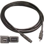DELTACO Firewire 800-kabel,  9-pin Bilingual - 4-pin, 3m (FW-93)