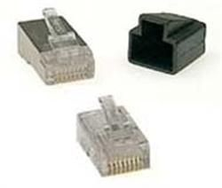 RJ45 UTP plugg for Cat. 5+ Solid cable Selges i poser med 100 stk.