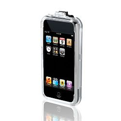 iPOD TOUCH POLYCRBNT CASE * CLEAR;W/ RMVBL CLIP