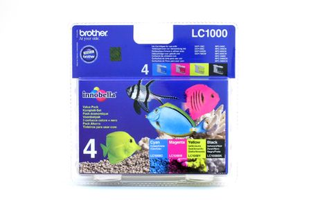 BROTHER DCP-330C Value Pack BK/C/M/Y (LC1000VALP)
