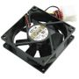 AKASA Auto Thermal Fan, 8 cm, auto speed control, 1200-2600 rpm, black