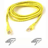 CAT 5 PATCH CABLE 50CM MOULDED SNAGLESS YELLOW UK