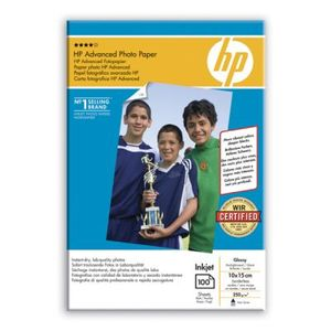 HP Advanced glättat fotopapper - 100 ark/10 x 15 cm utfallande (Q8692A)