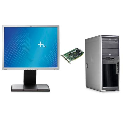 xw4600 workstation + FX1700 graphics card + LP2065 monitor bundle