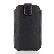 iPhone 3G Leather Holster/ Pull Tab/Black