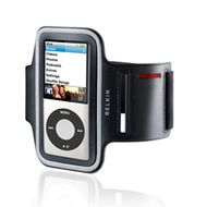 DUAL FIT SPORTS ARMBAND NEW NEW IPOD NANO IN BLACK & SILVER