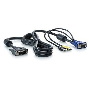 Hewlett Packard Enterprise 2x KVM-USB Cable 2m for 1x4 KVM Server Console Switch (AF613A)