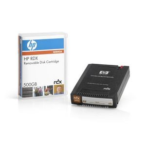 Hewlett Packard Enterprise RDX 500GB Removable Disk Cartridge with 500GB native capacity.  For use with RDX Disk Solution & RDX Disk Docking Station. (Q2042A)