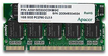1.0GB PC-333 SODIMM Original