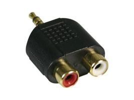 Soundadapter 2xRCA Female - 3.5mm Minijack Male - Minijack to Phono