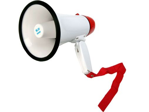 Megaphone -Voice Your Support- 5V Amplified Red