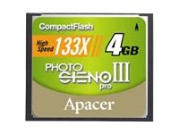 Compact Flash Card 4.0GB Photo Steno Pro III 133X Retail