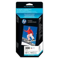 HP Photo Starter Pack Incl. C/M/Y Ink Cartridge + 10x15cm Photo Paper 50 Sheets (CG846EE)
