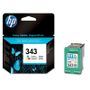 HP 343 original ink cartridge tri-colour standard capacity 7ml 330 pages 1-pack