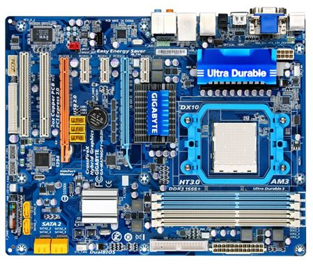 MB GA-MA790GPT-UD3H AMD 790GX AM3 FSB5200MTS DDR3 PCIE AUDIO ATX RTL