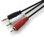 AIC Audiokabel 3,5mm - 2xRCA -  1,0 m 3,5mm - 2xRCA