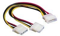 Powersplit/ Y-Cable 4-pin Male to 2x4-pin Female (LGINTM -> 2XLGINTF)