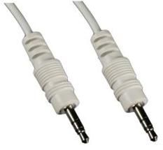 1MAG Audio-kabel  3,5mm  Jack  M/M  Hvit   ca 0,5m (MM-KK-050-W)
