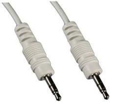 1MAG Audio-kabel  3,5mm Jack  M/M  Hvit   ca 2,0m (MM-KK-120-W)