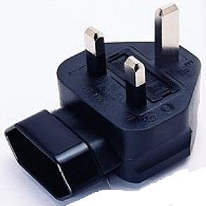 1MAG Adapter UK han til Euro hun, VPE 200 (CB-A-8UK-L-FM)