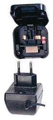 1MAG Converter 2 pin Euro power supply to UK plug,  3 amp fused,  screwed in type (CB-A-Z-PCP)