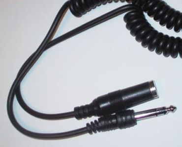 1MAG Audio-skjøtekabel  6,3mm Jack  M/F  Stereo   Spiral   ca 1,5-3m (MM-KKV63-2-SP)