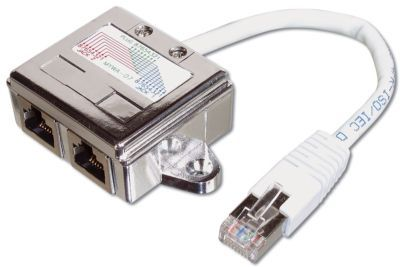 "1MAG RJ45 splitt Data/Data Cat.5 ""Skjermet"" (DD-MFF-8-C5)"