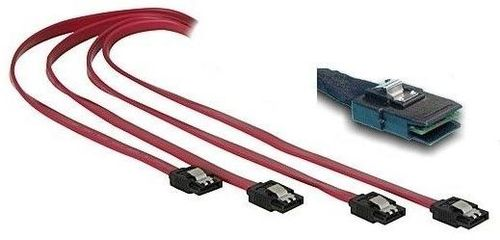 1MAG SAS Kabel  SFF 8087 til 4x SATA  Host to Backplane   0,75cm (SAS-MINI-FAN-75)