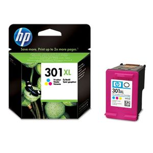 HP 301XL original ink cartridge tri-colour high capacity 330 pages 1-pack Blister multi tag (CH564EE#301)
