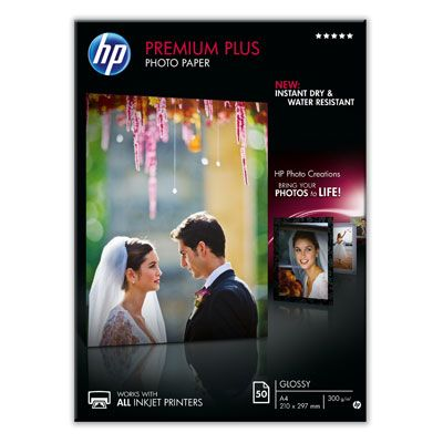 Premium Plus glanset fotopapir – 50 ark/ A4/ 210 x 297 mm