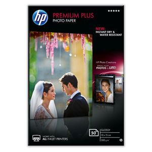 HP Premium Plus Glossy Photo Paper-50 sht/10 x 15 cm 300g/m2 (CR695A)